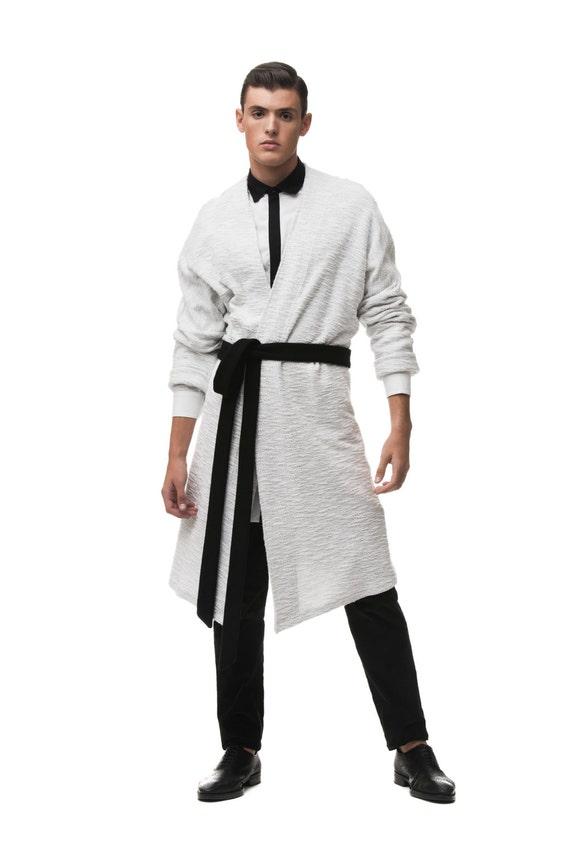 Robe kimono Wrap avec Cardigan Oversized avec Wrap contrasté ceinture noire bd3602