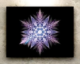 FRACTAL SNOWFLAKE Art - HD Prints: sacred geometry, fractal, mandala, nature, elemental, winter, christmas, mountain, holistic, metaphysical