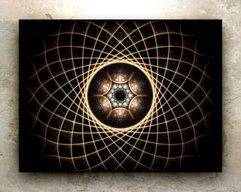TOROIDAL GAZE – HD Art Print: sacred geometry, mandala, torus, atom, energy, astral