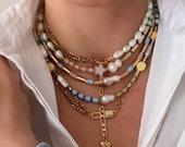Pastel Bluemarlin necklace