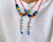LOVE necklace siver - auch geil