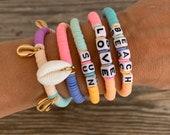 pastel love bracelet