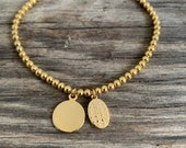 22k gold plated Maria Charm bracelet