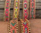NEW COLORS: Bonk Ibiza friendship bracelet with gold plated chain