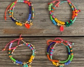 SALE Rainbow anklet: pay ONE, get TWO