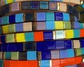 colorfull square miyuki beaded bracelet