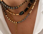 bonk ibiza 22k gold plated chunky necklace with charm