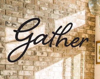 Gather Sign, Custom Metal Gather Sign, Metal Signs, Outdoor Signs, Indoor Signs