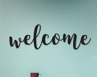 Welcome Sign, Custom Metal Welcome Sign, Metal Signs, Outdoor Signs, Indoor Signs