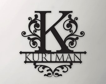 Metal Letter Family Sign   Metal Signs   Free Shipping   Custom Metal Sign