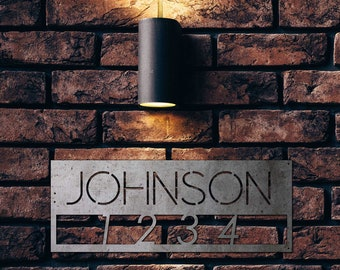 Address Sign, Metal House Numbers, Address, Custom Metal Sign, Metal Signs Personalized,Personalized Metal Sign, Outdoor Signs