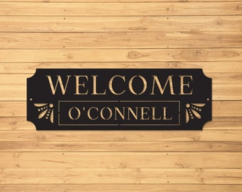 Custom Metal Sign | Metal Name Sign | Metal Signs | Metal Welcome Sign | Free Shipping