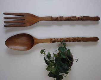 Spoon and Fork wall decor large bohemian