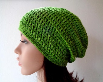 226fab1bad8 Hand dyed fall slouchy hat crochet slouchy beanie wool slouchy hat crochet  beanie green slouchy hat spring hat