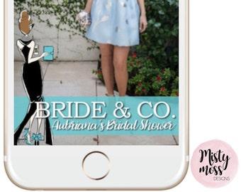 Breakfast At Tiffanys Snapchat Geofilter - Bridal Shower - Bride & Co., Blue, Tiffany