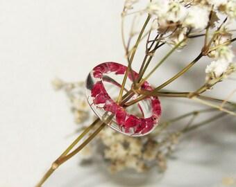Yellow Flower Rings Resin Nature Resin Jewelry Botanical
