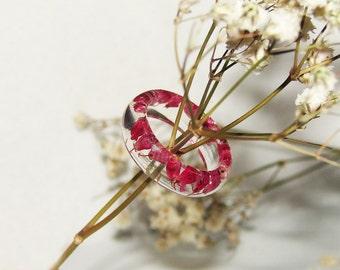 Cyclamen Flower Ring Resin Jewelry, Botanical Ring Real Plants Jewelry Gift, Pressed Flower Ring Nature Jewelry, Cute Resin Art Gift Ideas