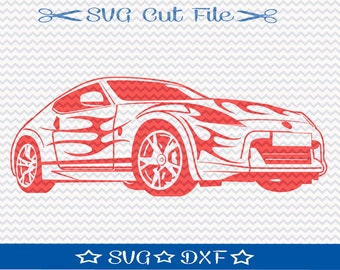 Race Car SVG File / SVG Cut File for Silhouette / Sports Car SVG / Racing svg / Automobile svg / dxf for Cameo