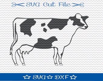 Cow SVG File / SVG Cut File for Silhouette / Farm Animal SVG / 4H svg / Farm svg / Ranch svg