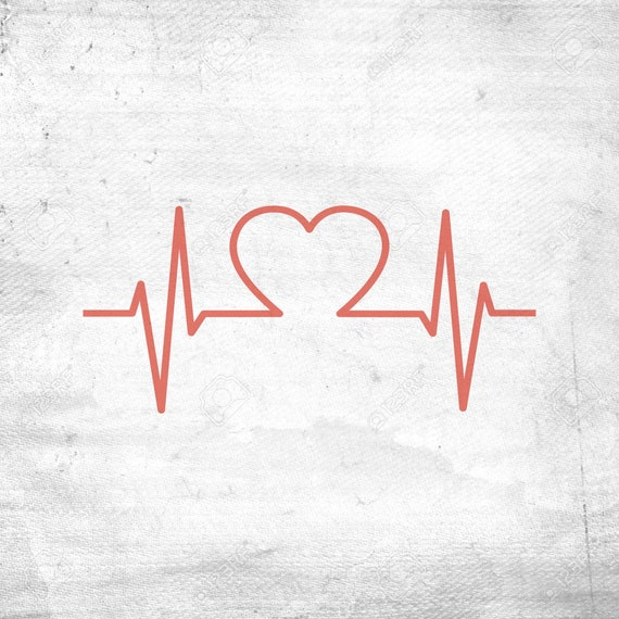 Heartbeat Svg Ekg Svg Heart Svg Nurse Svg Chd Svg Heart Etsy