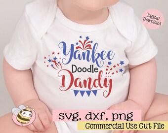 Yankee Doodle Dandy Svg, Fourth of July Svg File, Patriotic Svg, 4th of July SVG Cut File, United States Svg, American Svg