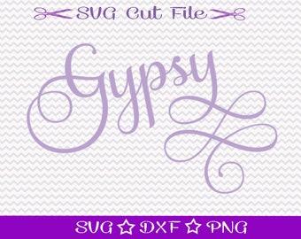 Gypsy SVG Cut File for Cricut and Silhouette, Gypsy Soul Digital File, Gypsy Girl File