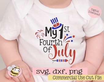 My First Fourth of July Svg, Patriotic SVG, 4th of July svg, Independence Day Svg