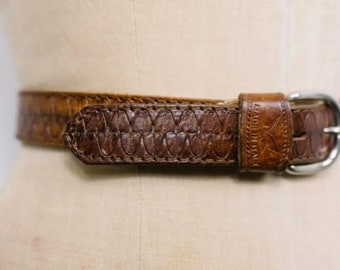 Leather belt buckle | Etsy