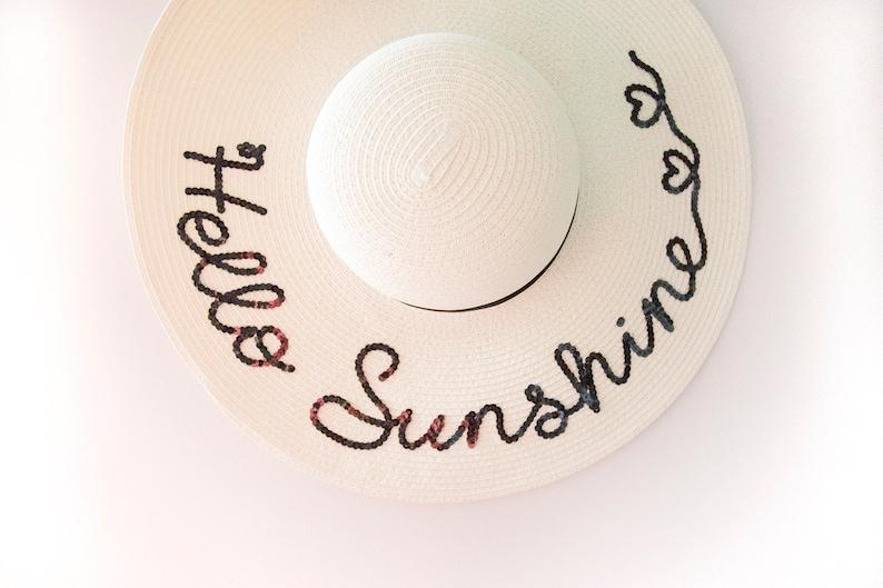 766dd28146363 Hello Sunshine Floppy sun hat Gift For Women Gift for