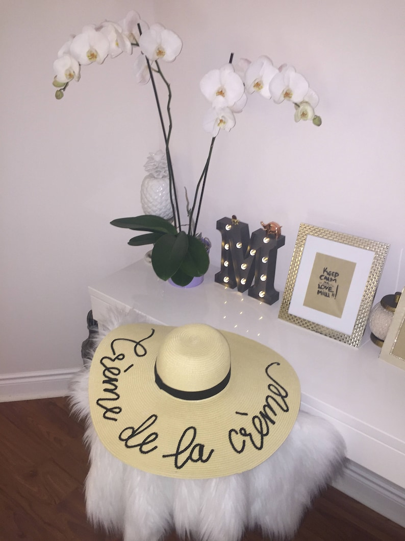 any words Personalized Summer Hat Customized BEIGE COLOR Hat