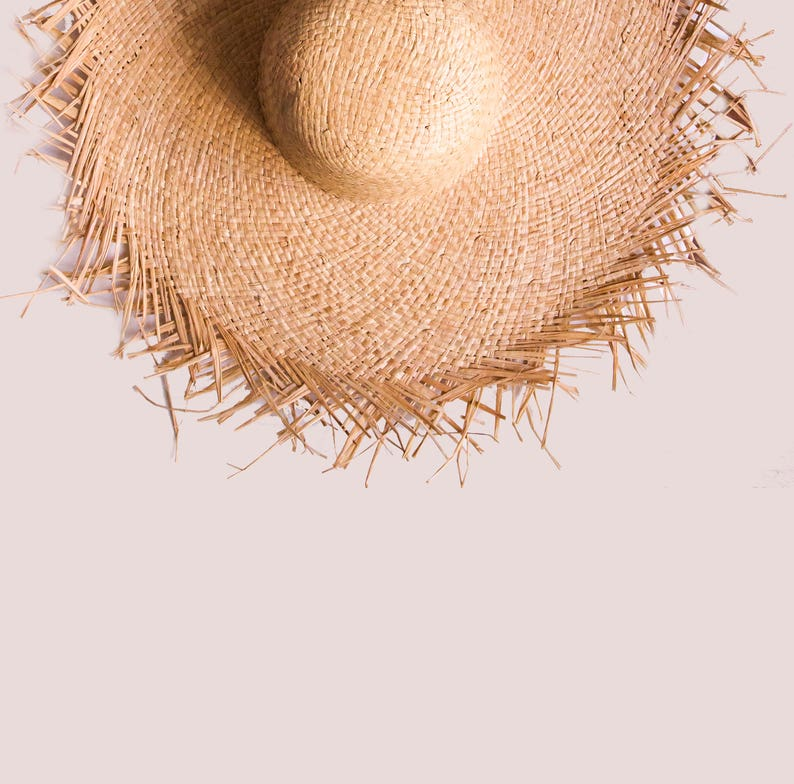 905a9b6665735 Fringe Floppy Sun Hat Natural straw hat Personalized