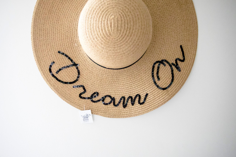 41e435880ec86 Dream On Sun Hat Floppy Sun Hat Gift For Women Gift for