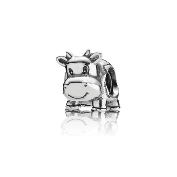 8a9ec48d7 Pandora Cow Charm 790565 S925 ALE Sterling Silver Charm | Etsy