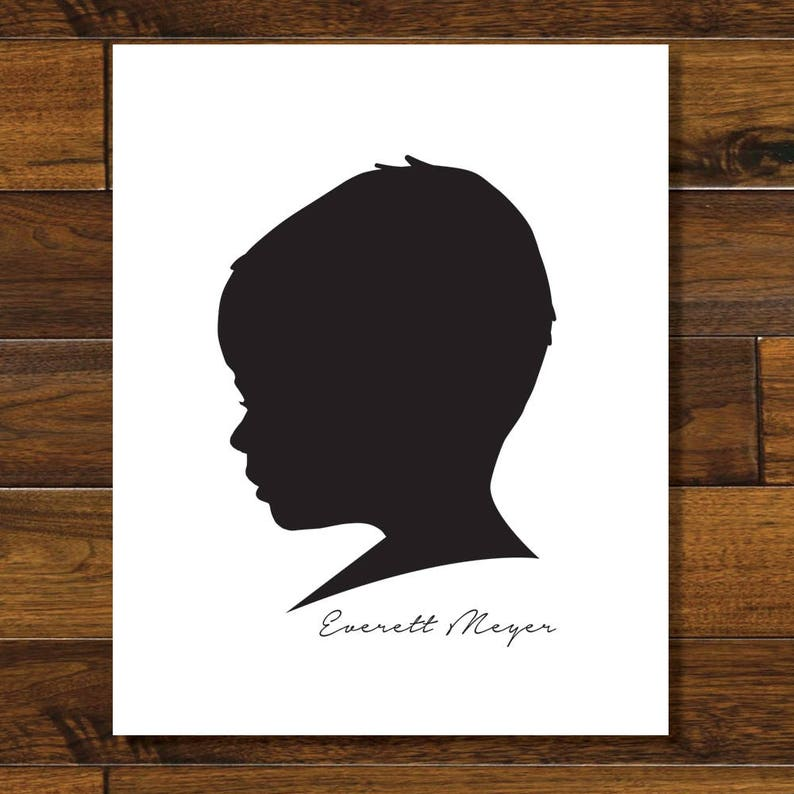 Custom Silhouette Printable Digital Download image 0
