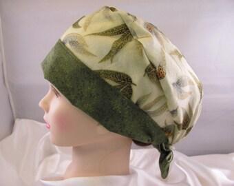 Women's Pixie Scrub Hat Leaves