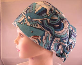 Women's Pixie Scrub Hat Sharks