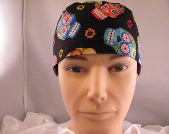 Men's Scrub Hat Sugar Skulls