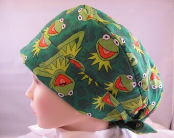 Women's Pixie Scrub Hat Kermit The Frog