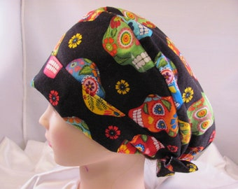 Women's Pixie Scrub Hat Sugar Skulls