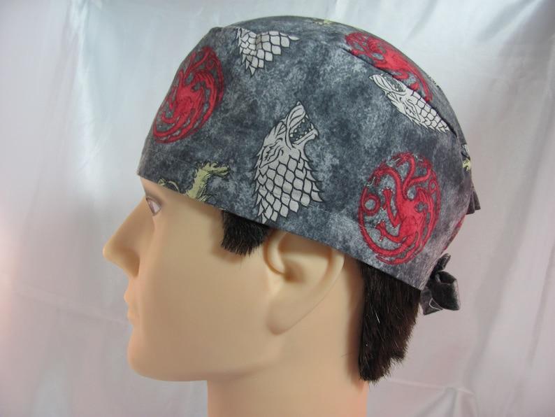Men/'s Scrub Hat Gray Sigils