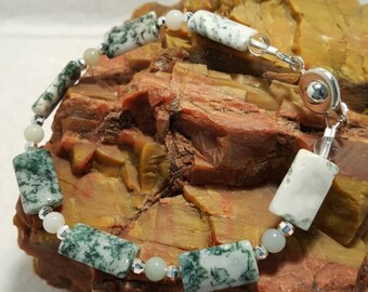 Tree Agate and Green Aventurine bracelet