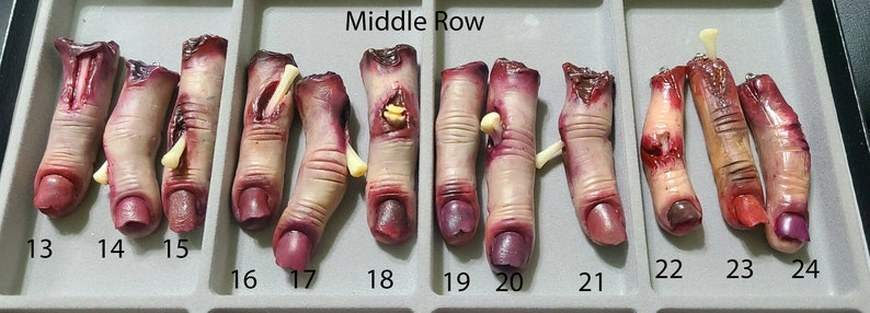 Realistic Severed Finger Pendant Handmade Polymer Clay