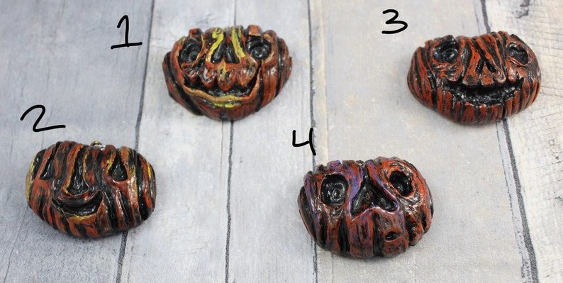 Polymer Clay Halloween Pumpkin Pendants