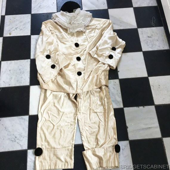 1930's French Pierrot Costume Theater Carnival Cir