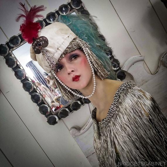 Antique Paul Poiret Style Hat Turban 1920s Follies