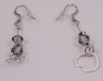 Stainless steel and Swarovski crystal earrings.  Be different?  This is for you.