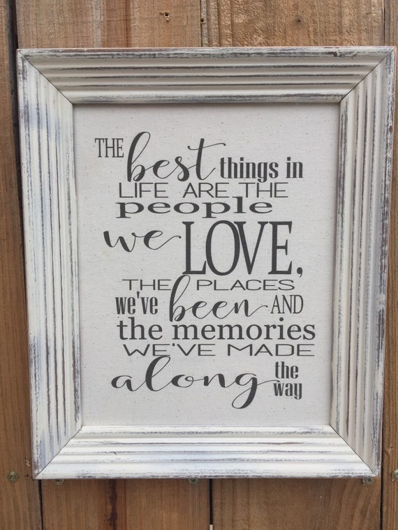 The Best Things in Life People We LoveFramed Canvas   Etsy