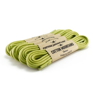Made in Italy Round waxed cotton shoelaces Dark green shoe laces Dress shoelaces Groomsmen gift Boot Laces