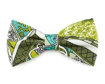 Green purple paisley bow tie for men, wedding, groomsmen bowtie, groom, gift for him, boys bow ties - Fall Winter wedding accessories