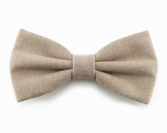 Taupe bow tie for men, beige wedding bow tie, groomsmen bowtie, gift for him, boys bow ties - Fall Winter wedding accessories